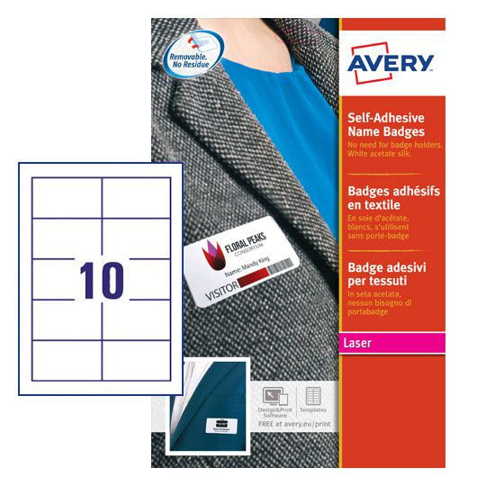 Self Adhesive Name Badges L4786-20