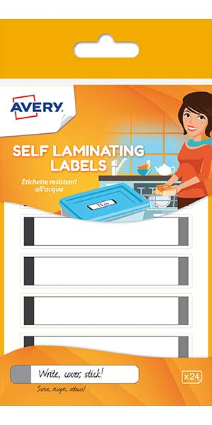 Waterproof Self laminating Labels - Grey